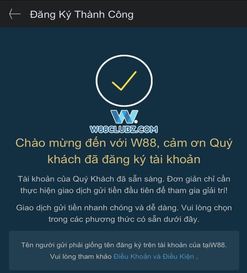 Hoan tat dang ky W88